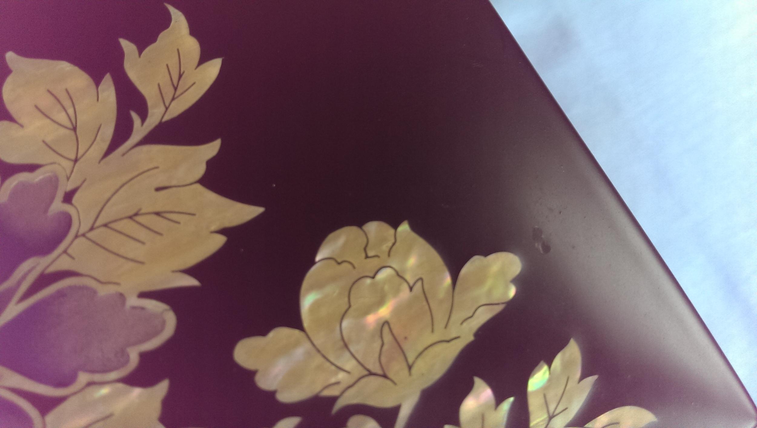 Перламутровая шкатулка Июньские цветы.