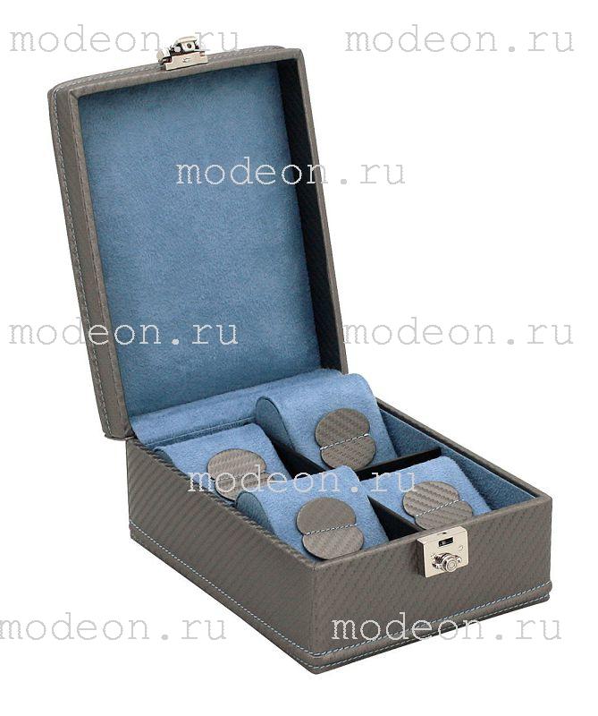 Шкатулка  для хранения 4 часов Carbon-499