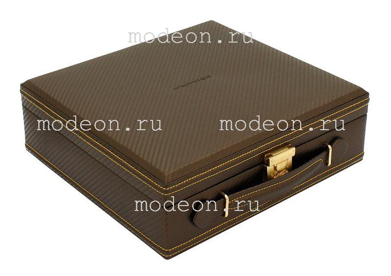 Шкатулка  для хранения 12 часовCarbon-548