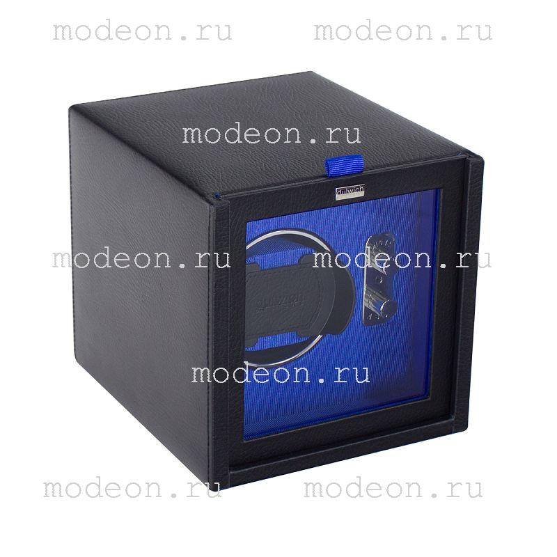 Шкатулка-модуль автоподзавода часов Лутон, синий
