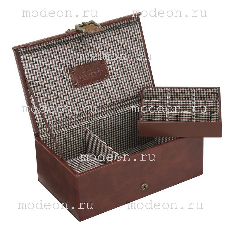 Шкатулка для хранения часов и запонок Огилви, коричневая.