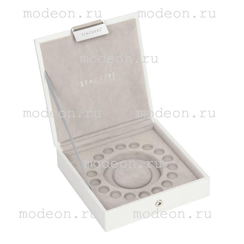 Шкатулка для хранения браслета и шармов Pandora, белая.