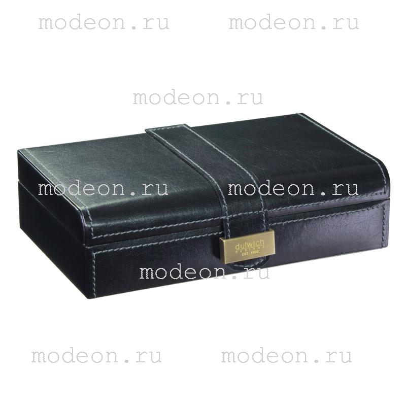 Шкатулка для запонок Мерседес, черная