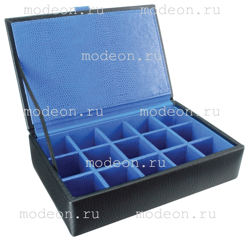 Шкатулка для запонок Ланкастер-15, синяя