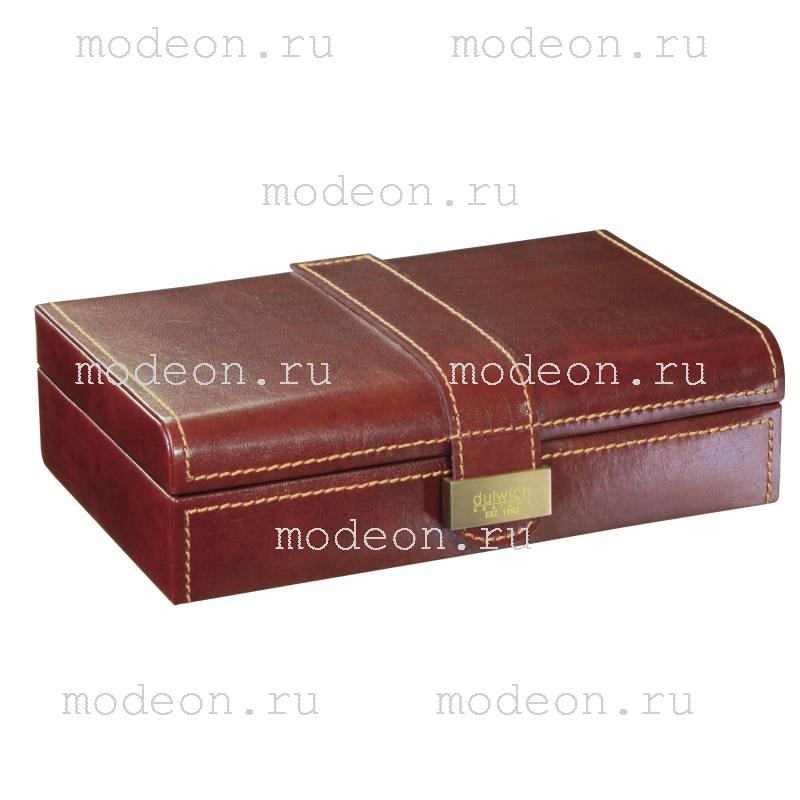 Шкатулка для запонок Мерседес, коричневая