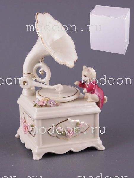 Музыкальная скульптура Котенок и патефон