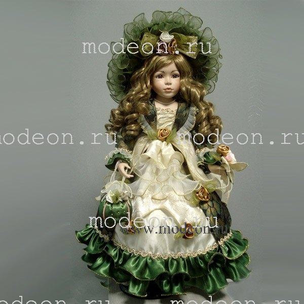Фарфоровая кукла Анжелика, 61см