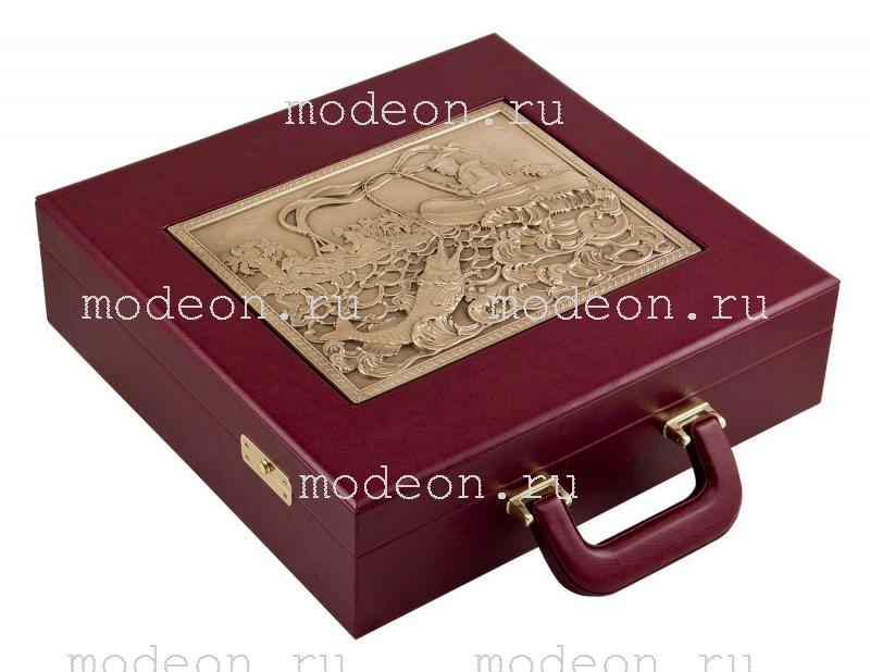 Подарочный набор в кейсе Рыбацкий, малый с панно