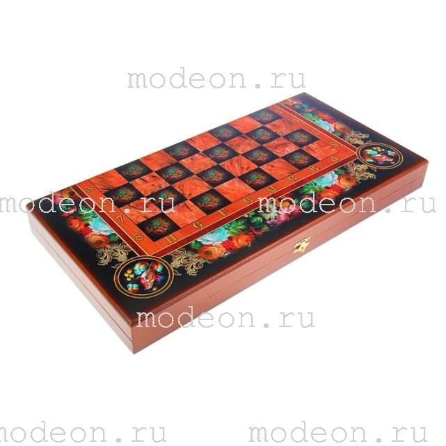 Шахматы, нарды, шашки на 50 Цветы