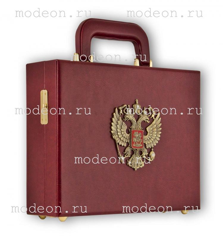 Подарочный набор Державный - Герб, в кейсе
