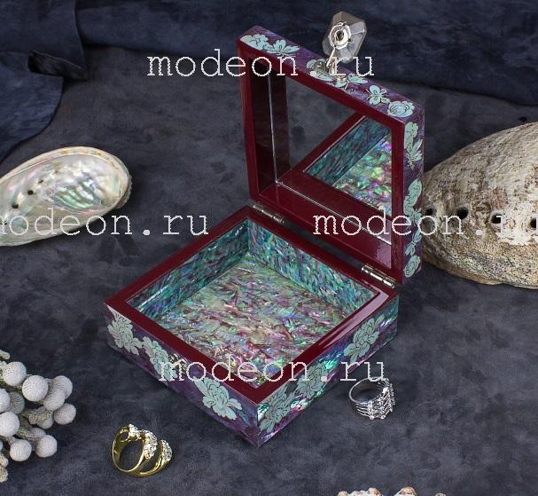 Шкатулка для украшений Пионы и бабочки