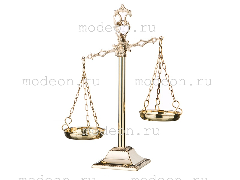 Весы из латуни Фемида, Stilars snc