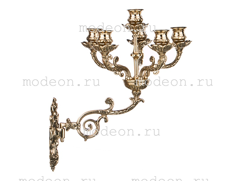Подсвечник настенный из латуни Богема, Stilars snc