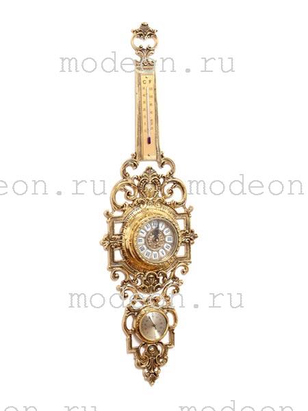 Часы кварцевые настенные с термометром Джульетта