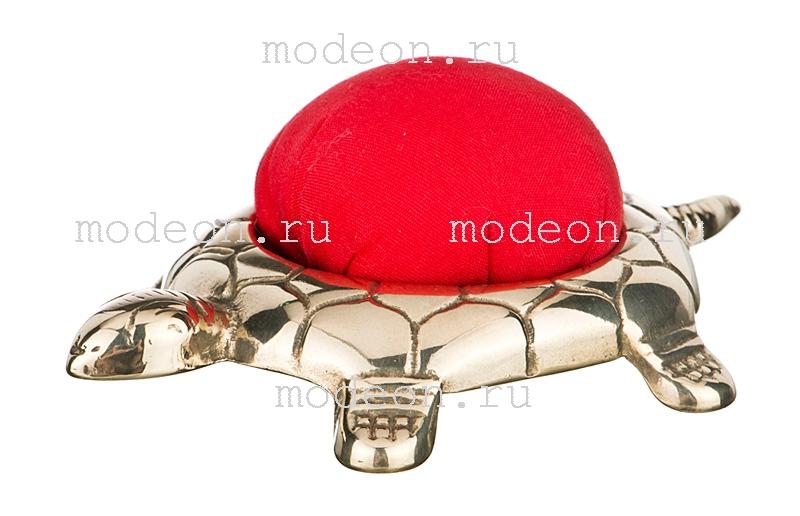 Подушка для иголок из латуни Черепаха, Stilars snc