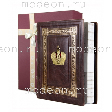 Фотоальбом из натуральной кожи с тиснением Корона