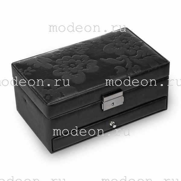 Шкатулка для украшений Hanna, Black flowers, SACHER