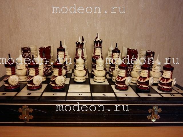 Шахматы резные Сражение