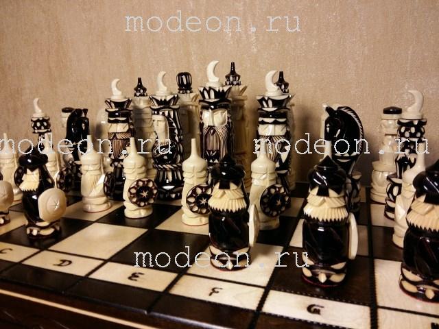 Шахматы  резные Полумесяцы-New