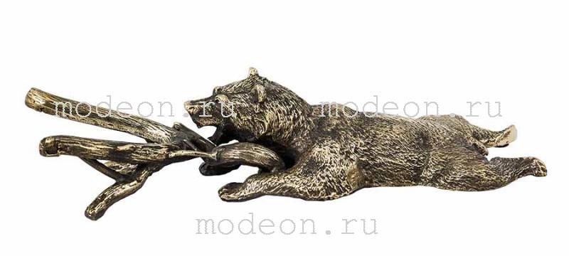 """Подарочный рожок для снятия обуви """"Жук скарабей, Медведь VIP"""""""