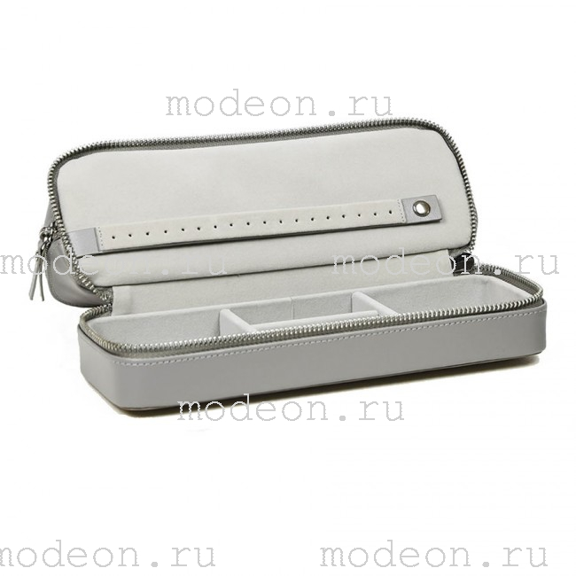 Дорожная косметичка-шкатулка для украшений Мост, серебро
