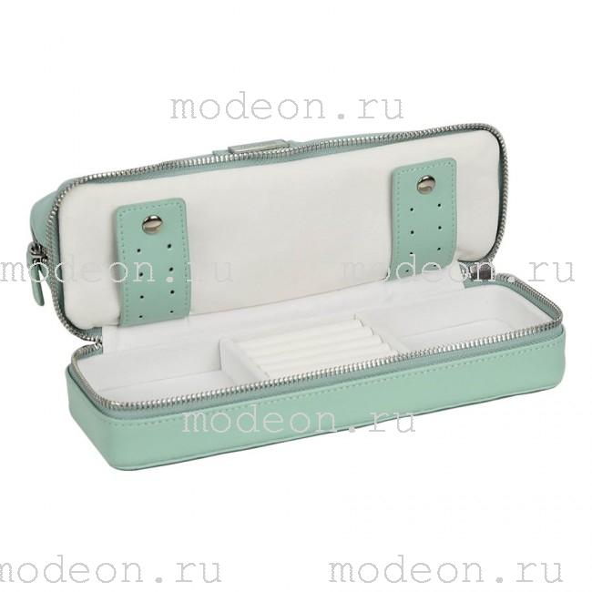 Дорожная косметичка-шкатулка для украшений Мост, бирюза