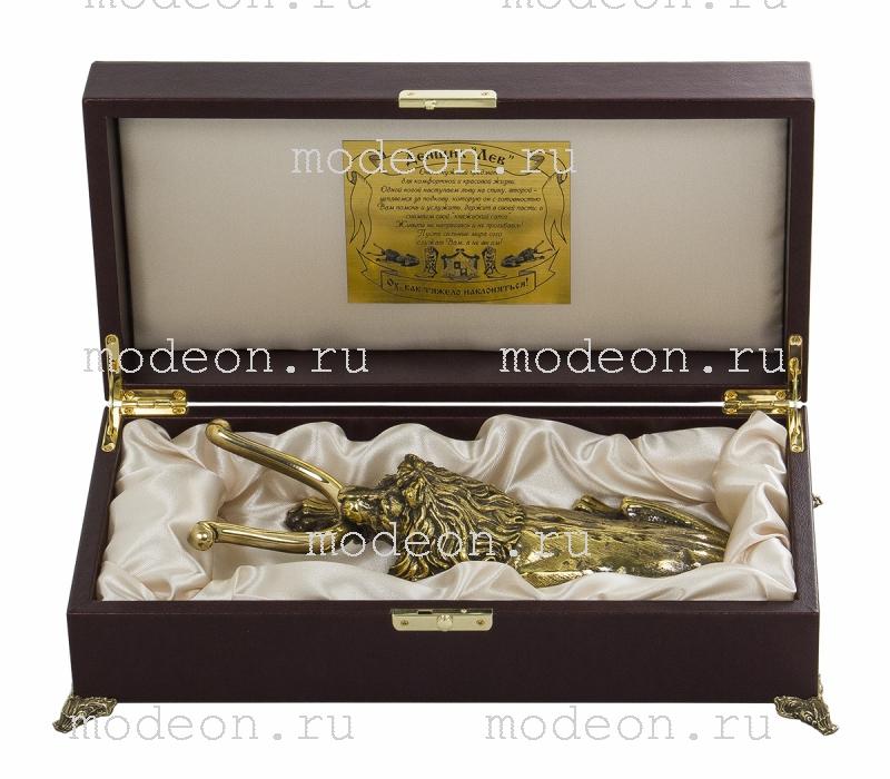 """Подарочный рожок для снятия обуви """"Жук скарабей, Лев VIP"""""""