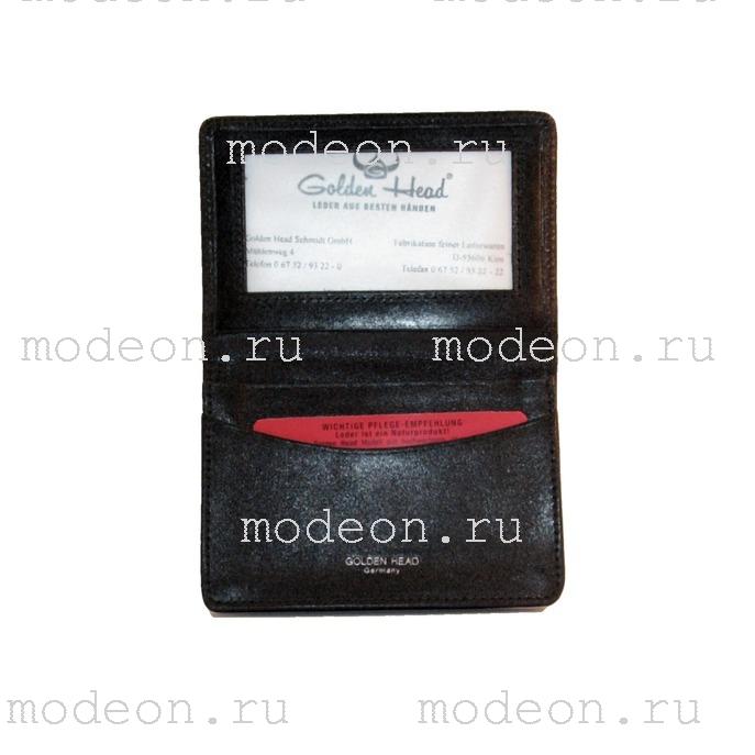 Чехол для кредитных карточек и визиток Golden Head Колорадо Классика 4444