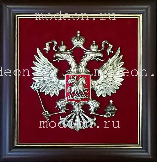 Панно Герб России, квадратный, средний