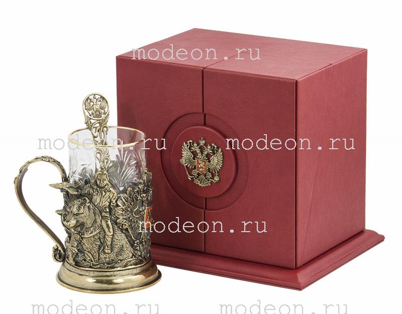 Набор для чая в подарочной шкатулке Россия