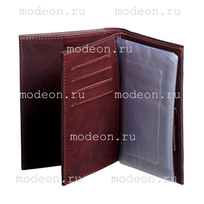 Портмоне + обложка для автодокументов и паспора Россия Златоглавая