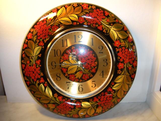 Часы настенные Хохлома - Рябина