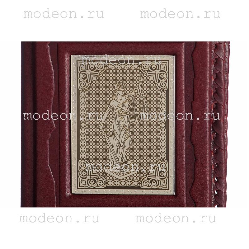 Обложка для паспорта Юристу, серебро