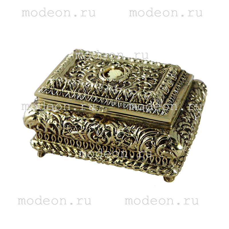 Шкатулка из бронзы Медальон