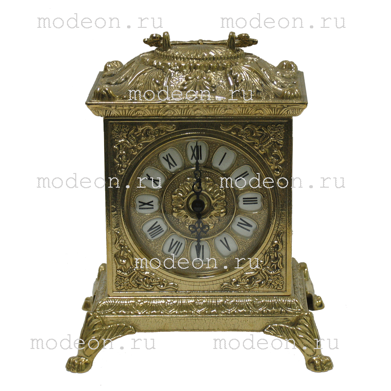 Часы каминные антикварные Ларец, золото