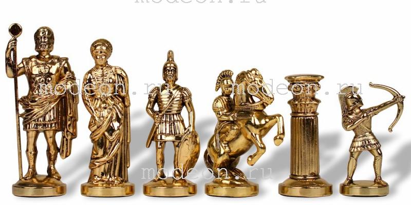 Шахматы металлические Античные войны, р44