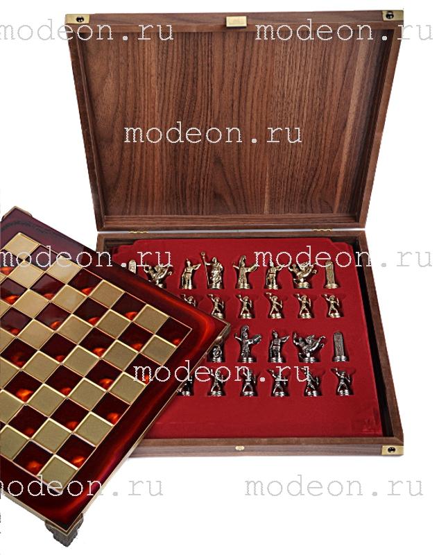 Шахматы металлические Олимпийские Игры, р36 красные