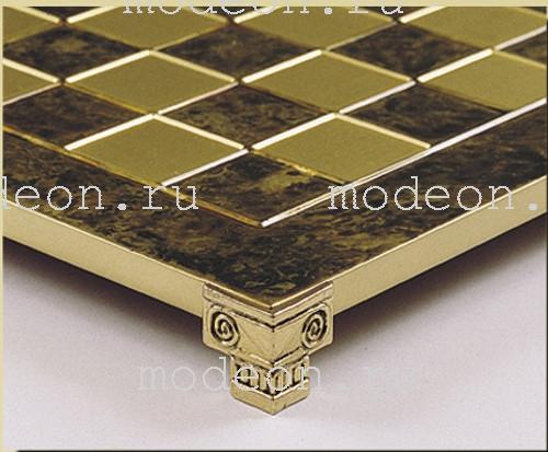 Шахматы металлические Троянская война, р36 коричневые