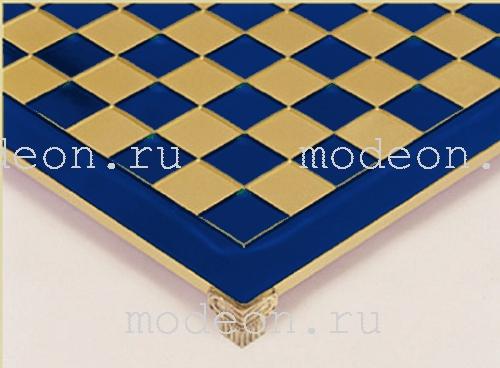 Шахматы из металла Троянская война, р54 синие