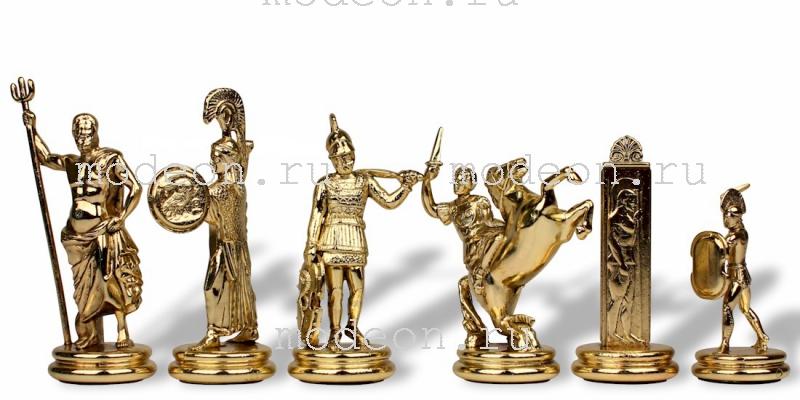 Шахматы металлические Троянская война, р54 красные