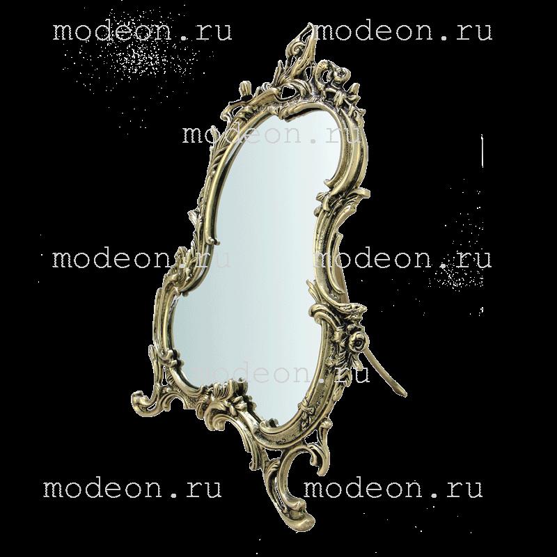 Зеркало из бронзы настольное Рамос