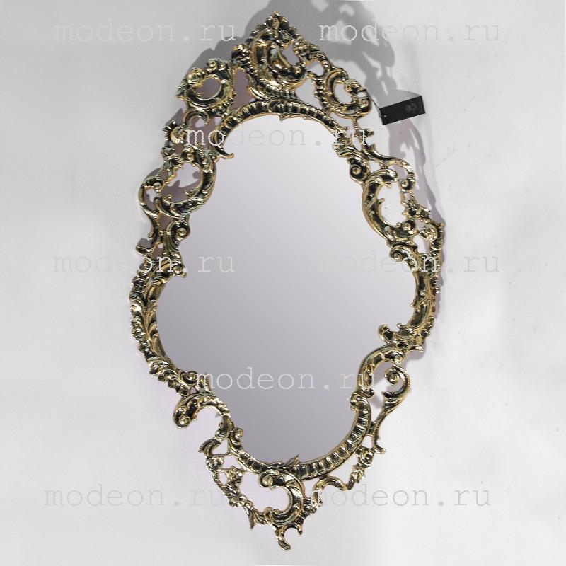Зеркало для прихожей из бронзы Тампош