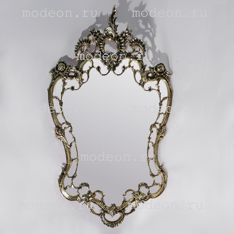 Зеркало из бронзы для прихожей Император