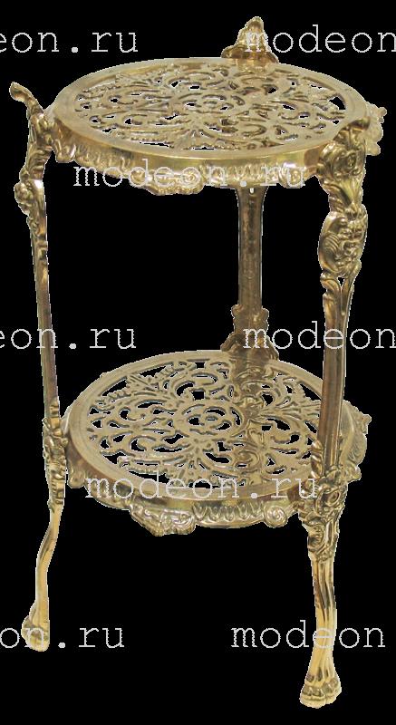 Столик латунный круглый Армандо, золото