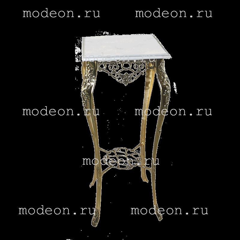 Столик высокий с мраморной столешницей Порту