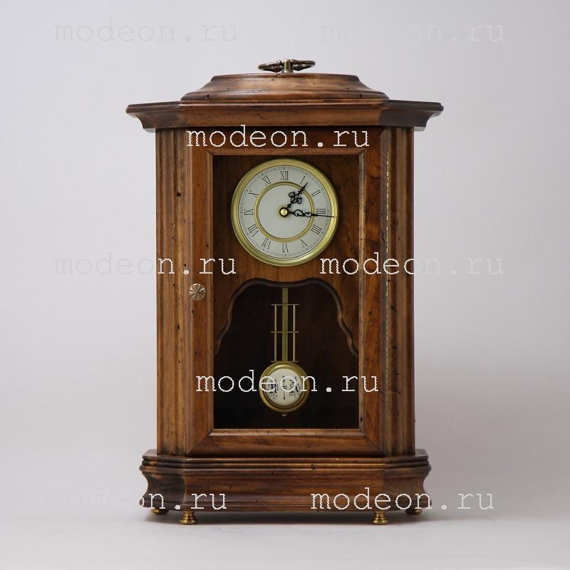 Часы настольные с маятником и стеклянной дверью Ренато