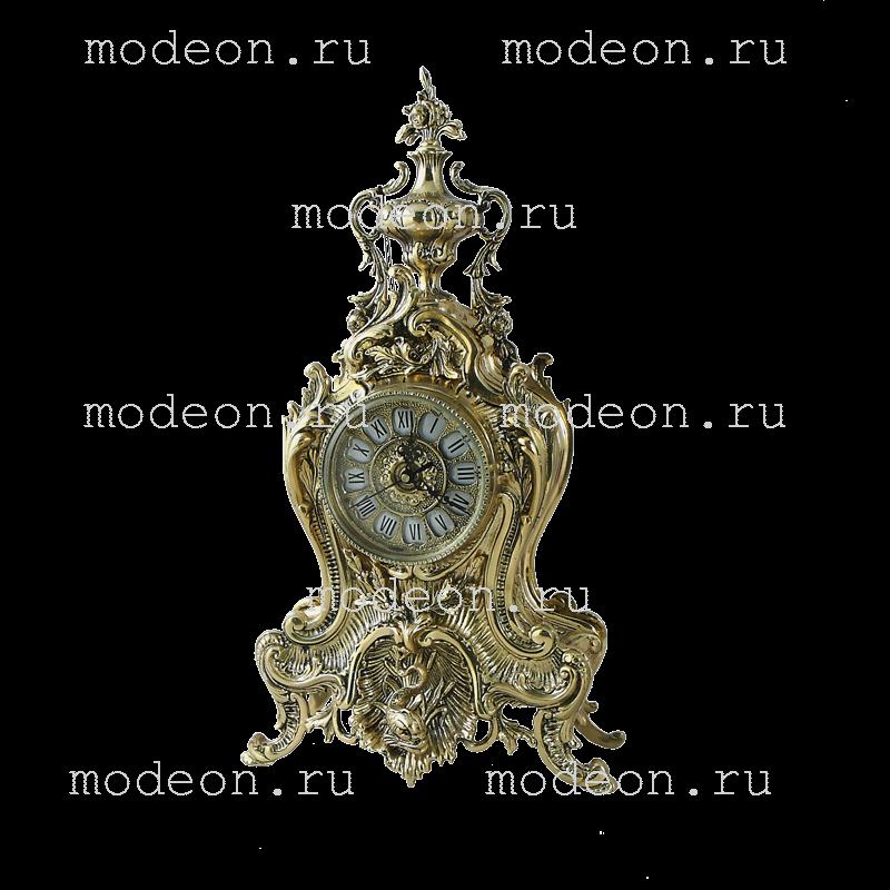 Часы  настольные из бронзы Флор
