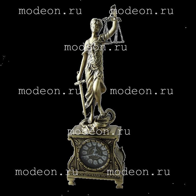 Часы настольные из бронзы Фемида