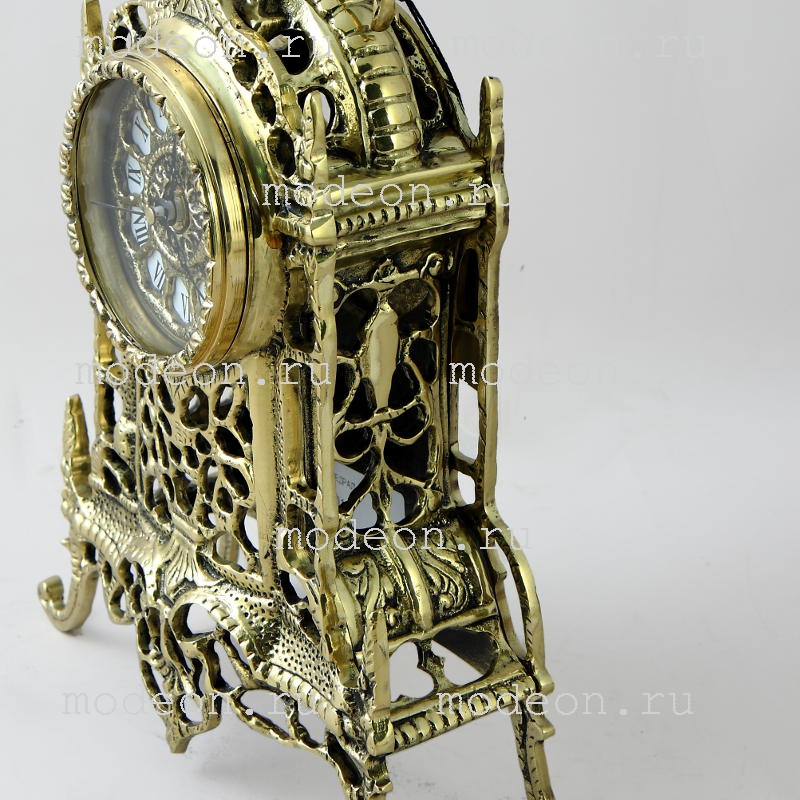 Часы настольные из бронзы Кафедрал, золото