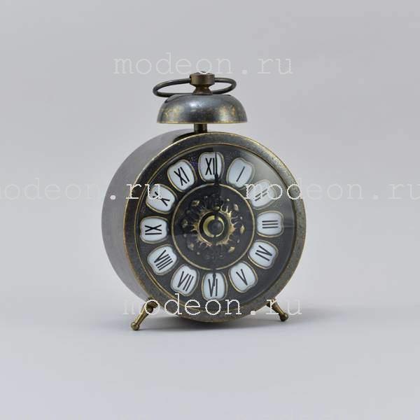 Часы стилизованные под будильник, антик